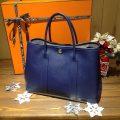 hermes garden party blue sapphire エルメス ガーデンパーティー ブルーサフィール × シルバー金具 ヴォーエプソン 販売 買取
