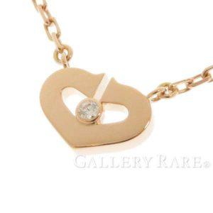 ネックレス Cハート&シンボル ダイヤモンド K18PGピンクゴールド