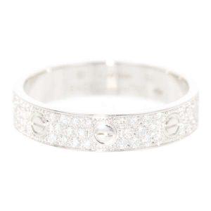 ラブリング パヴェダイヤ ダイヤモンド 0.31ct ホワイトゴールド