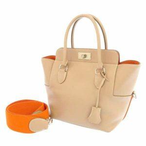 エルメス ハンドバッグ ツールボックス20 アルジル/オレンジ