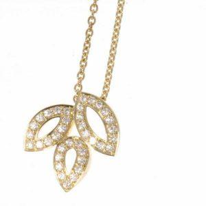 ハリーウィンストン ネックレス リリークラスター ダイヤモンド K18YG
