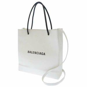 バレンシアガ トートバッグ ショッピングバッグS ホワイト